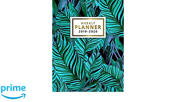 Weekly Planner 2019-2020: Cute Tropical Turquoise Daily ...