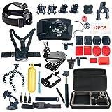 YaeCCC 42-in-1 Accessory Kit for GoPro Hero5 Black, Hero5 Session, Hero 4 Silver Black, Hero Session, Accessory Bundle Set for GoPro Hero3+ 3 2 1, SJ Cam Xiaoyi