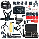 YaeCCC 42-in-1 Gopro Accessory Kit for GoPro Hero5 Black, Hero5 Session, Hero 4 Silver Black, Hero Session, Accessory Bundle Set for GoPro Hero3+ 3 2 1, SJ Cam Xiaoyi