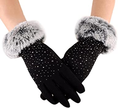 SD8673T//XL SKYDEER Mens and Womens Winter Gloves with Warm Full Deerskin Leather Suede