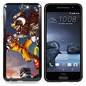 For HTC One A9 Case , Rey Fast Food Lucha Oro Arco - Diseño Patrón Teléfono Caso Cubierta Case Bumper Duro Protección Case Cover Funda