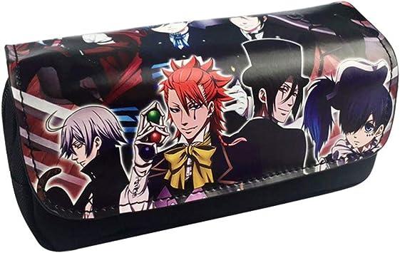 Black Butler Estuche de Lápices Anime clásico Estuche de lápices Estuche de lápices Carrete Bolsa de Almacenamiento Linda para Hombres y Mujeres Estuche de lápices: Amazon.es: Equipaje
