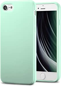 TENOC Phone Case Compatible for Apple iPhone SE 2020, iPhone 8 & iPhone 7 4.7 Inch, Slim Fit Cases Soft TPU Bumper Protective Cover, Glossy Mint