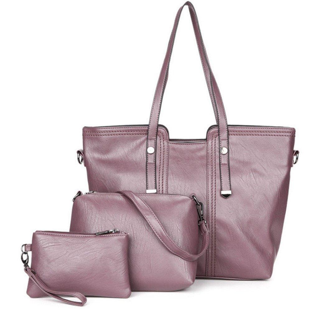 婦人用バッグ本物 女性用ショルダーバッグトートサッチェルホーボー3本財布セットファッション ファッション B07MCN14KP