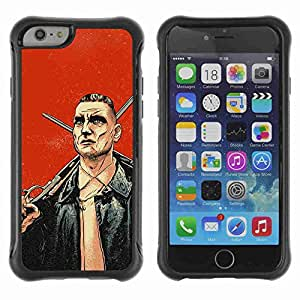 "A-type Arte & diseño Anti-Slip Shockproof TPU Fundas Cover Cubre Case para 4.7"" iPhone 6 ( Cool Lock Stock Illustration )"