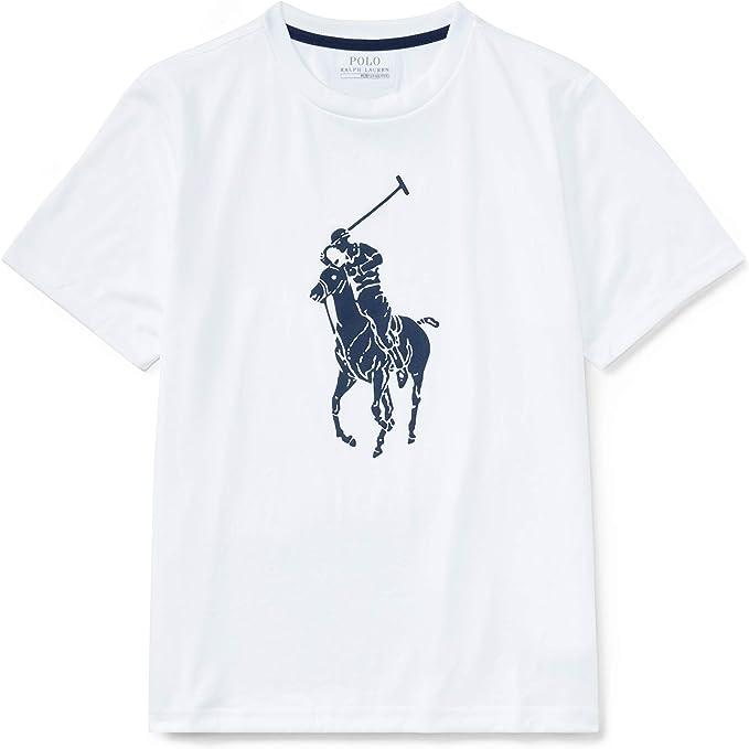 Ralph Lauren - Camiseta de Manga Corta - para niño Blanco Pure White L: Amazon.es: Ropa y accesorios