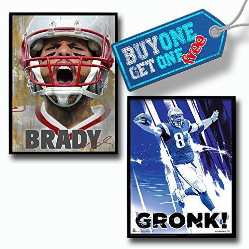 New England Patriots Tom Brady Rob Gronkowski Buy One Get One Free Poster Set Authentic Team Spirit Store Product