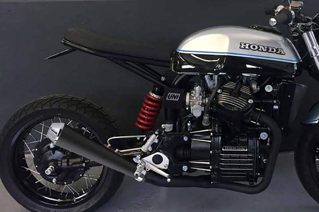 Ducati Terminale scarichi nero opaco con cono cromato Kawasaki Honda Yamaha Guzzi Scarico Megaton universale moto custom cafe racer