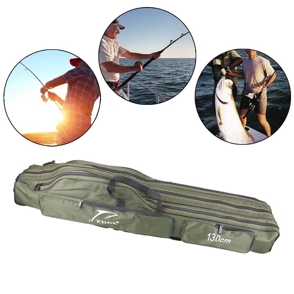 Leo565Tom - Bolsa Plegable para caña de Pescar (Bolsa de Almacenamiento, Bolsa de Almacenamiento, Bolsa de Almacenamiento, Aparejos de Pesca, Gran Capacidad, Organizador de Aparejos de Pesca)