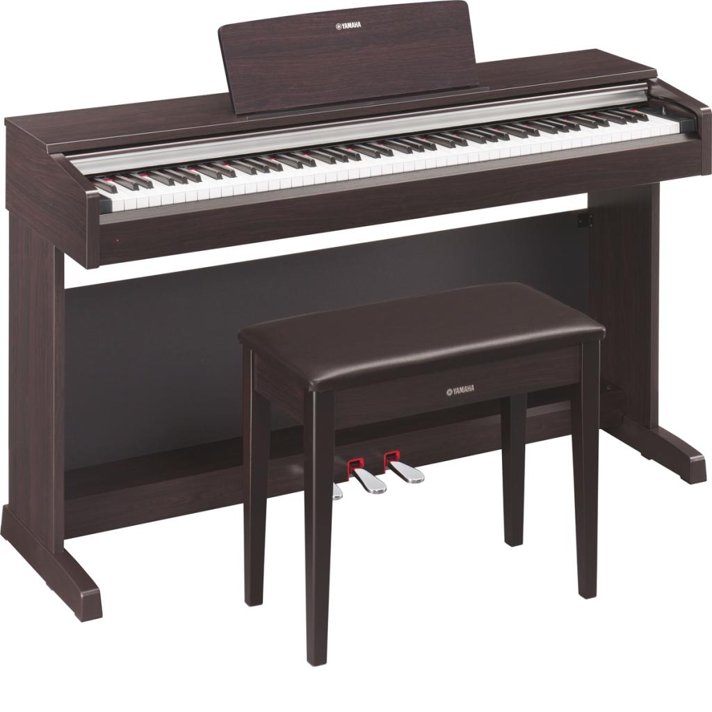 amazon com  yamaha ydp142r arius series traditional console digital piano with bench  rosewood