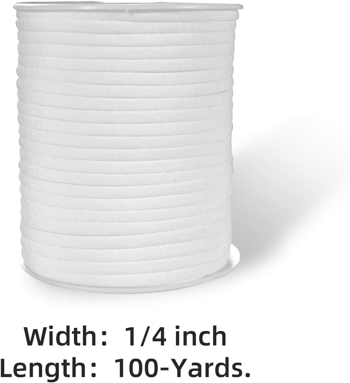Ficelle Ruban /Élastique pour V/êtements et Accessoires de Couture Blanc 18 m x 6 mm Greatime Bande Elastique pour Couture Longueur x Largeur Fil /Élastique Rond