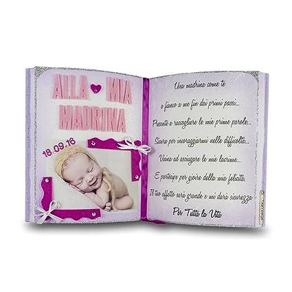 Alla Mia Madrina Libro Decorativo Dediche Del Cuore Lovecake Regalo Originale Portafoto Elemento D Arredo Realizzato Artigianalmente Ideale