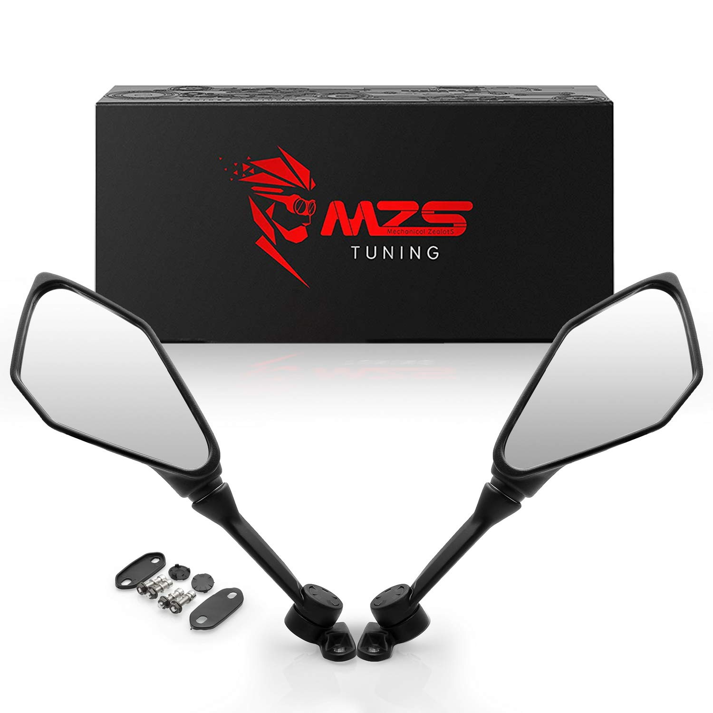 MZS Motorcycle Mirrors Rear View for Kawasaki ZX6R ZX-6R ZX636 2013-2018 | Ninja 300 EX300 ABS 2013-2018 | Ninja 400 EX400 2018-2019