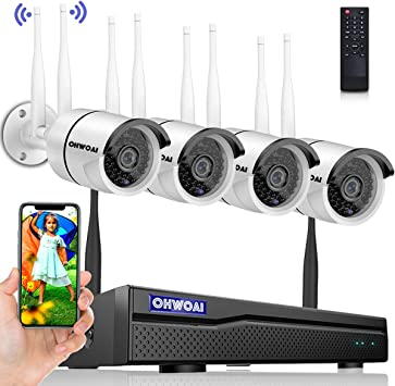 1080P HD 2way Audio CCTV Security Camera System WIFI Kit 8CH NVR IR Night Vision