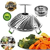 Kitchen & Housewares : Vegetable Steamer Basket Instant Pot Accessories 6 Quart Food For 8 Set Steam Baskets 4 Pressure Cooker Steam Rack Stainless Steel Accessory Cake Tray 6 Qt Veggie Cooking Steaming Collapsible Pack