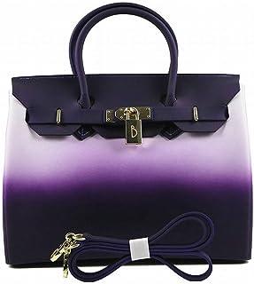 Mode Sacs à Main en Pvc Couleur Hit Couleur Mat Mat Gelée Platine Paquet 30 cm Sac à Main Sac , violet