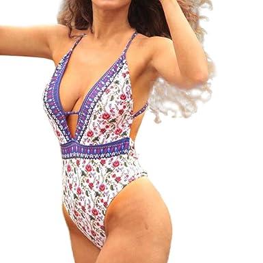 f96ce8b25ea Amazon.com: Women Swimsuit One Piece Womens Swimming Tankini Padded  Swimsuit Monokini Push Up Bikini Sets Swimwear: Clothing