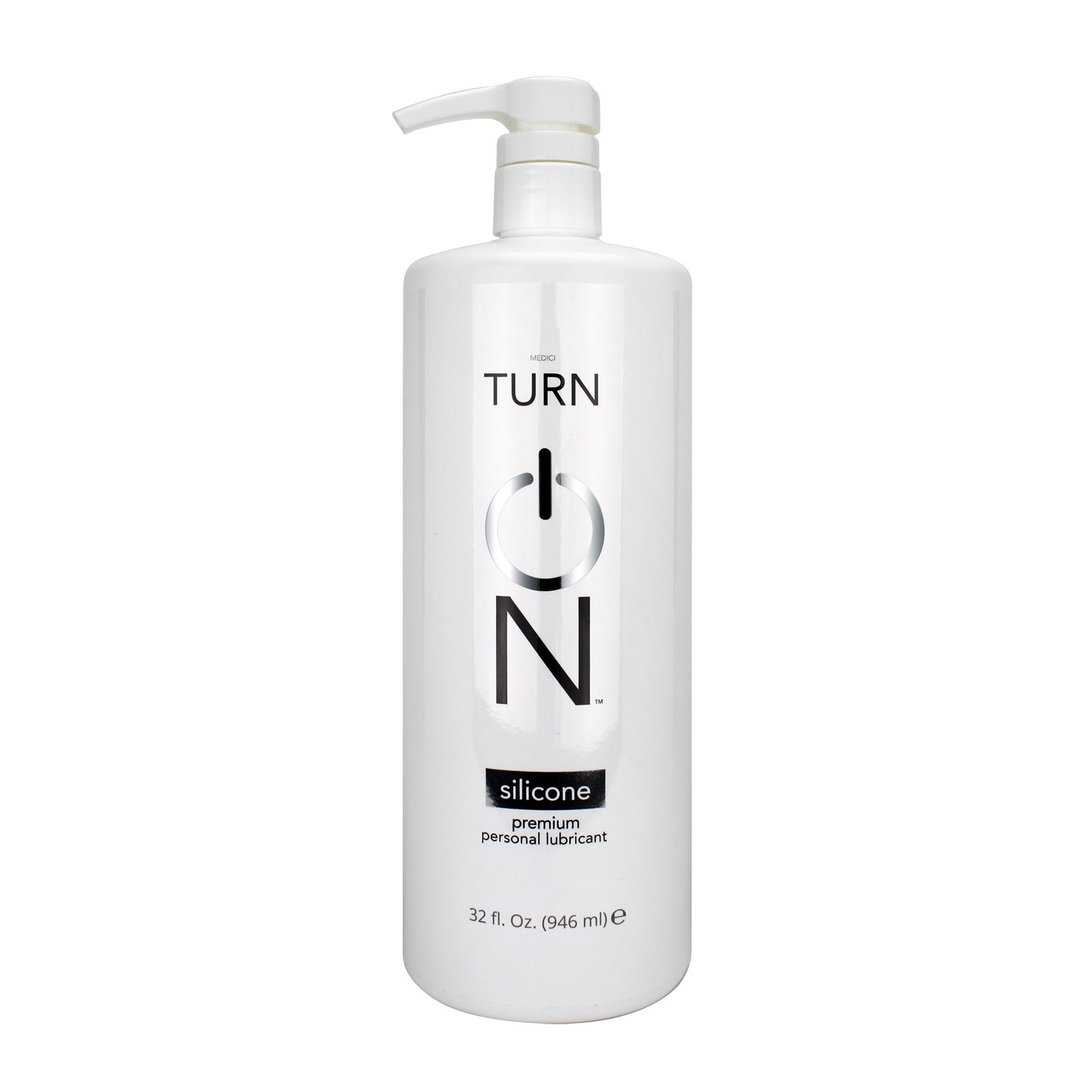Turn On Personal Silicone Based Lubricant, 32 Ounce Bottle for Smooth Skin, Easy Clean-Up, and No Sticky Mess by Turn On