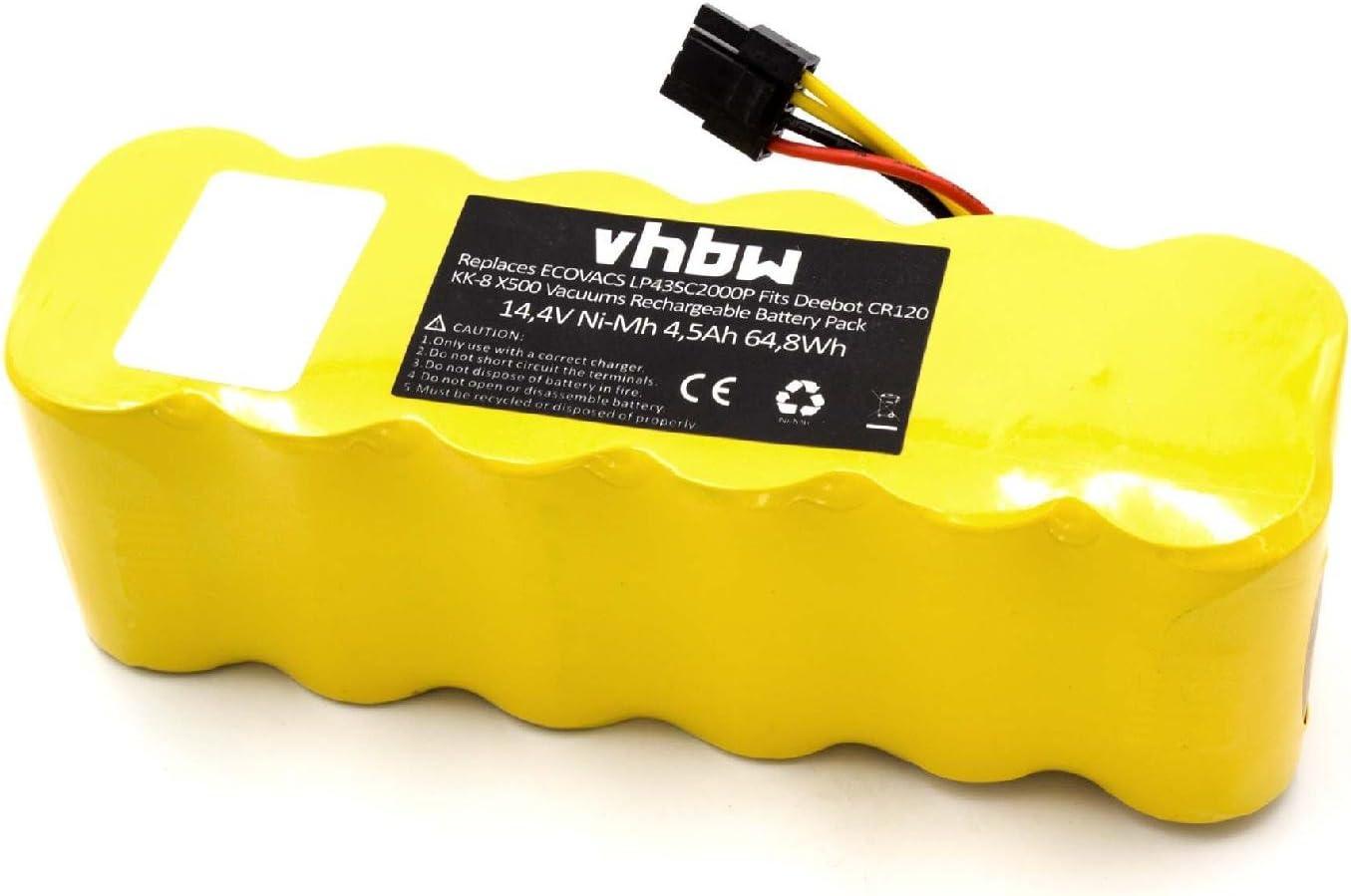 vhbw – NiMH batería 4500 mAh (14.4 V) para el hogar Robot ...