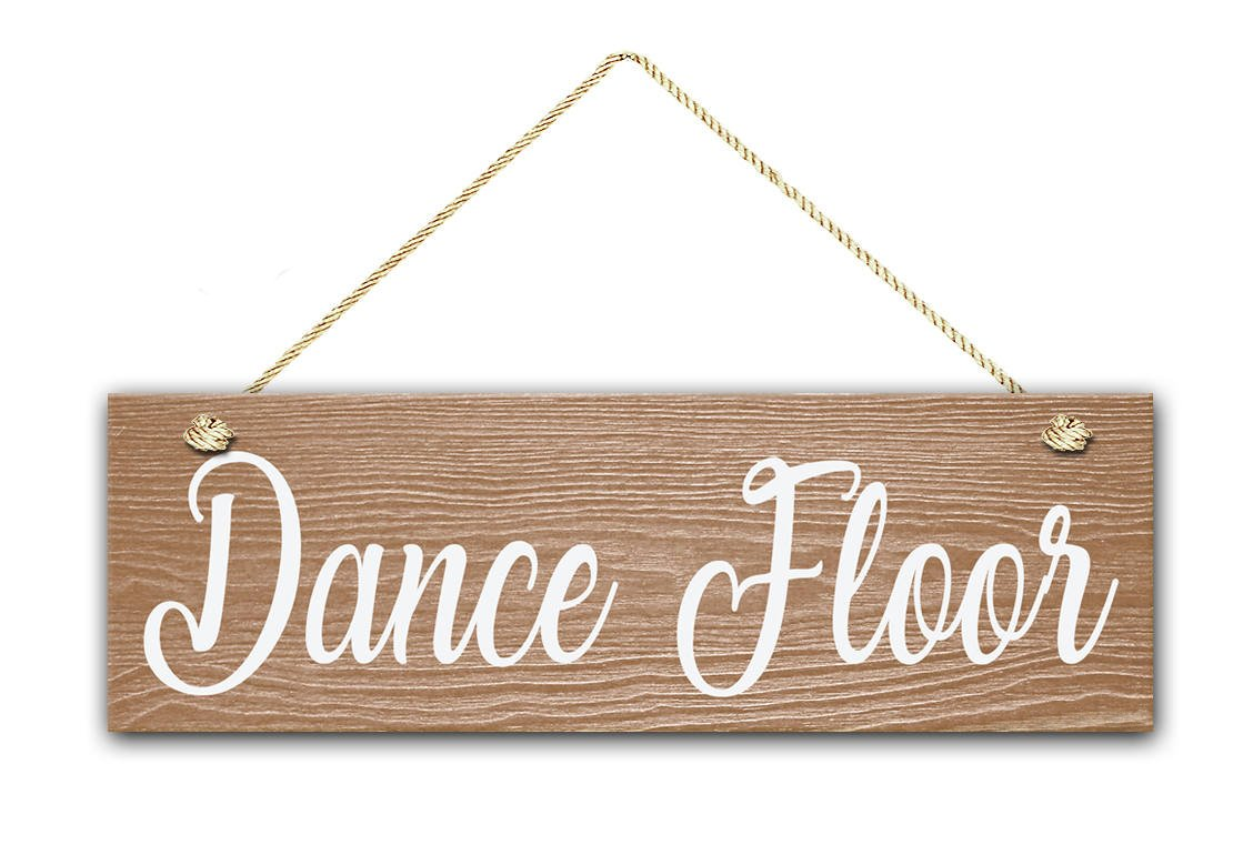 Dance Floor Sign, 5.5''x17'' Wood Sign, Rustic Home Decor, Sign For Teen's Room, Fun Party Sign, Dance Wall Hanging Wooden Sign.