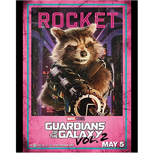 Rocket Holding Weapon Promo Guardians of the Galaxy 8 x 10 Inch Photo