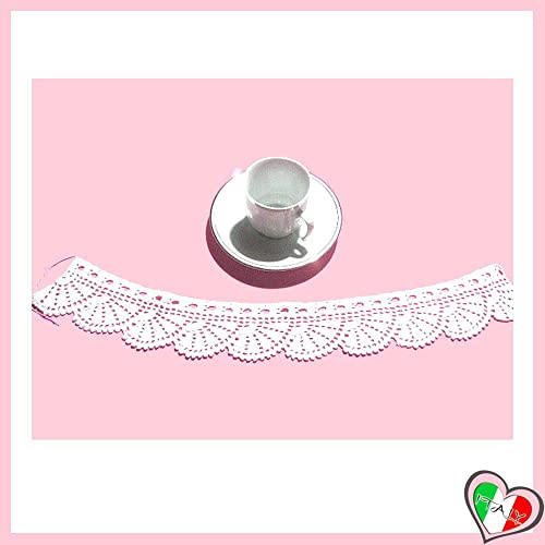 Bordo Filet Bianco Per Abbellimenti Vari In Cotone Alluncinetto