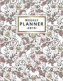 Weekly Planner 2019 Cute Weekly And Monthly 2019 Planner Calendar