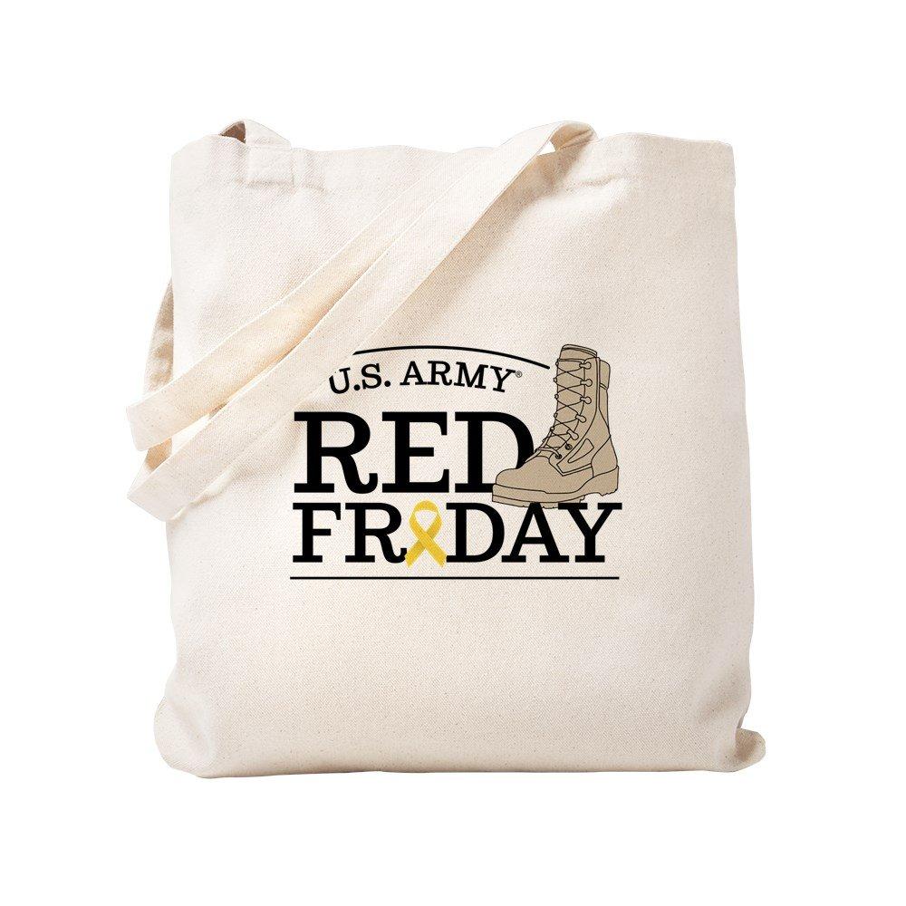 CafePress - Army RED Friday Boot - Natural Canvas Tote Bag, Cloth Shopping Bag