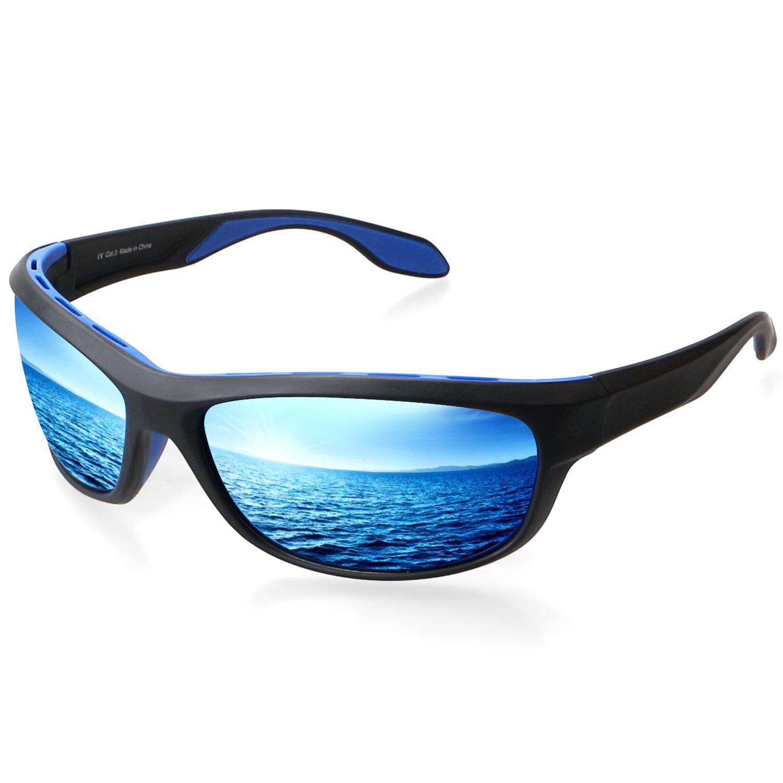 【60%OFF】 サングラスfor Man Blue luxearユニセックス偏光スポーツサングラスサイクリング運転、ゴルフ、釣り、その他アウトドア活動軽量壊れないフルフレーム。 pack。。 1。。。 B0725PMGBJ Polarized Sunglasses Blue 1 pack, 木城町:fdf4b690 --- digitalmantraacademy.com