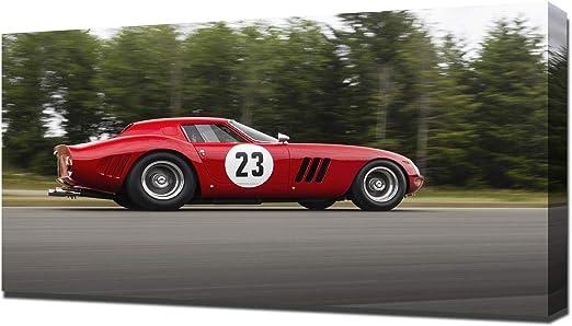"1964 Ferrari 250 GTO Red Auto Car Art Silk Wall Poster 24x36/"""