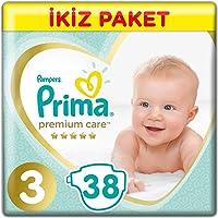 Prima Bebek Bezi Premium Care 3 Beden Midi Ekonomi Paketi, 38 Adet
