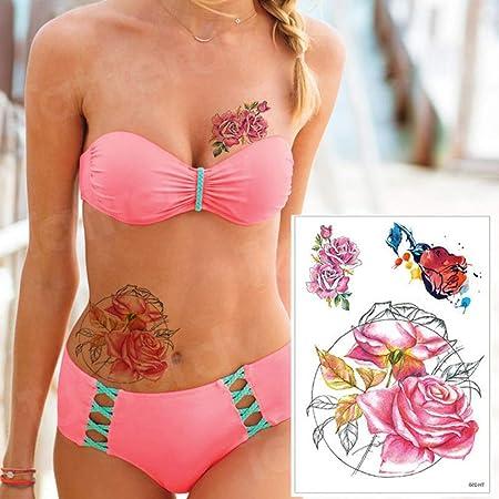tzxdbh 3pcs-Tattoo Lotus Tattoo Pegatina Tatuaje Manga Mujer Mujer ...