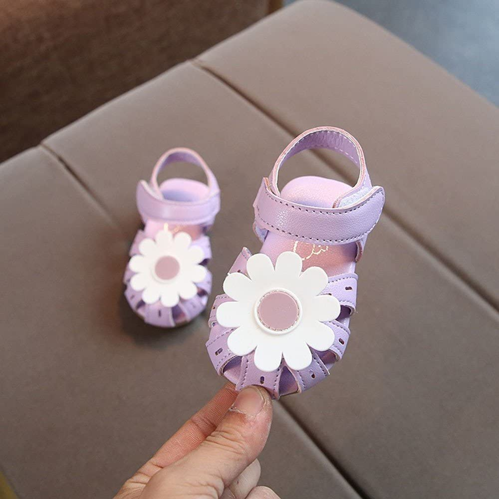 Kids Toddler Baby Girl Sandals Sunflower PU Rubber Sole Princess Shoes Strappy Slipper