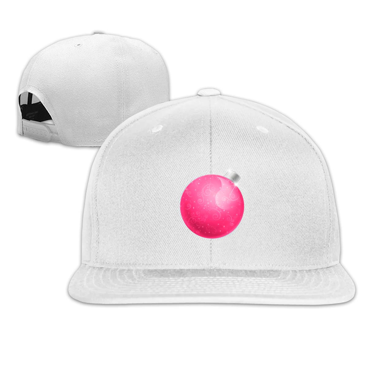 Christmas Ball Flat Brim Baseball Cap Adjustable Snapback Trucker Hat Caps Hip Hop Hat