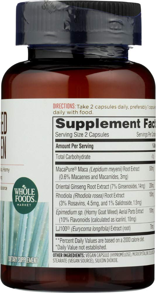Amazon.com: Whole Foods Market, Charged For Men, 60 ct: Health & Personal Care