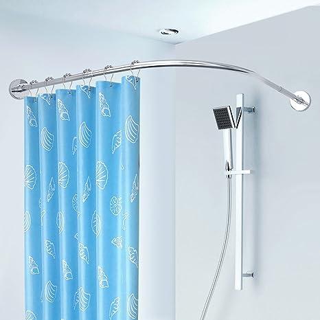 Barra de cortina de ducha Antideslizante Acero Inoxidable ...