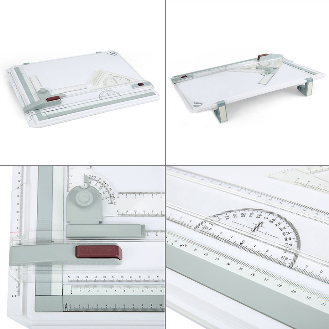 Preciva A3 Drawing Board 50.5 x 37cm Metric System, Drafting Board with Parallel Motion Accessories for Art and Design - White by Preciva (Image #7)