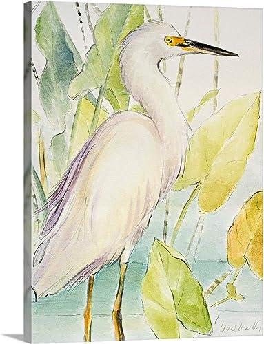 Snowy Egret Canvas Wall Art Print
