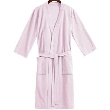 3535ad2900 Jinxin Ladies 100% Cotton Waffle Bathrobe Dressing Gown Lightweight Summer  Wrap Housecoat