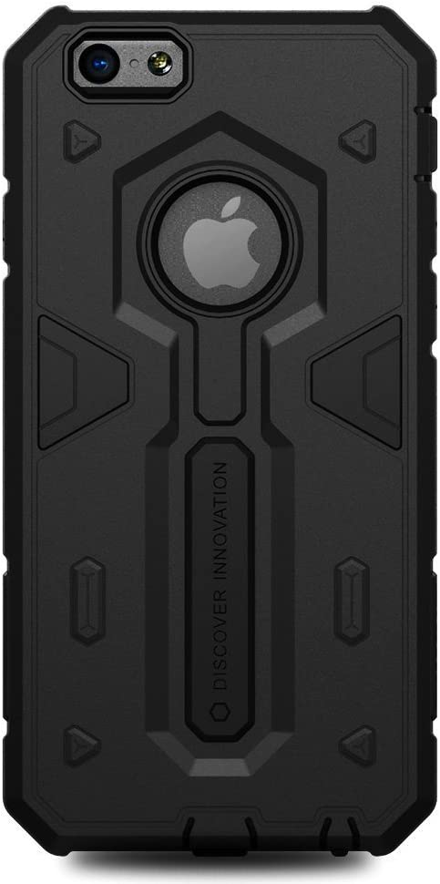 Nillkin Defender Case With Stand Impact Hybrid Armor Hard Cover For Apple Iphone 6 Plus - Black