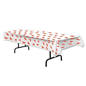 Crawfish Tablecover Party Accessory (1 Count) (1/pkg) Pkg/3