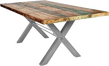 Sit Möbel Mesas mesa 180 x 90 cm, madera vieja Multicolor lacado ...