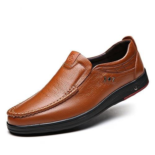 Mens Zapatillas cómodo Plana Ronda Toe Zapatos de Carretera: Amazon.es: Zapatos y complementos