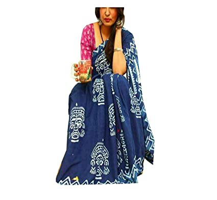 2af79882e5 Pinkcity Emporium Women's Indian Hand Block Printed Print Cotton Mul Saree  (ind125, Multicolour, Free Size): Amazon.in: Clothing & Accessories
