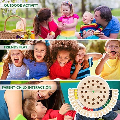 Peradix Juego Ajedrez de Memoria de Madera para Niños,24 Piezas Ajedres de Juguetes Memoria Montessori,Juguetes cognitivos de Color para Niños Educacion Infantil Mayores de 3 años