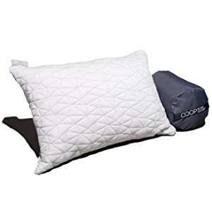 Camping and Travel Pillow with Bamboo Derived Viscose Rayon Cover - Adjustable- Compressible - Includes Stuff Sack Great for Backpacking and airplane or car Travel 19
