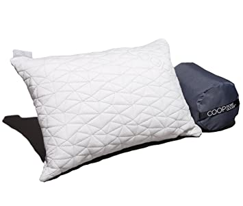 premium shredded memory foam camping and travel pillow with bamboo derived viscose rayon cover adjustable