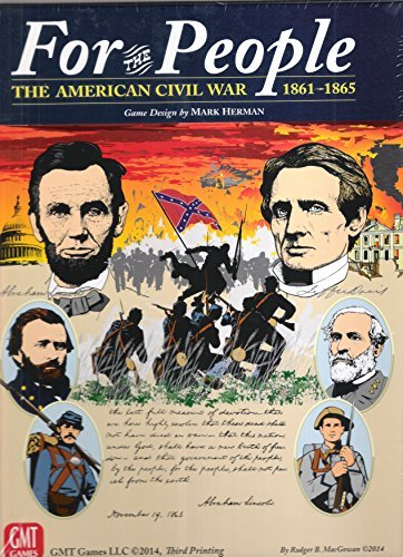 GMT: For the People II, the American Civil War 1861-1865, Board Game 3rd Edition (1960 The Making Of The President Game)