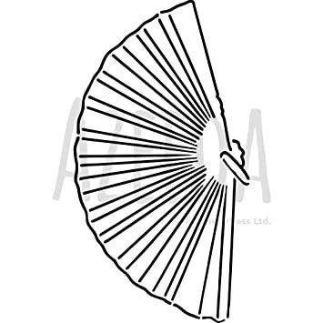 Large A2 'Hand Fan' Wall Stencil / Template (WS00037781): Amazon co