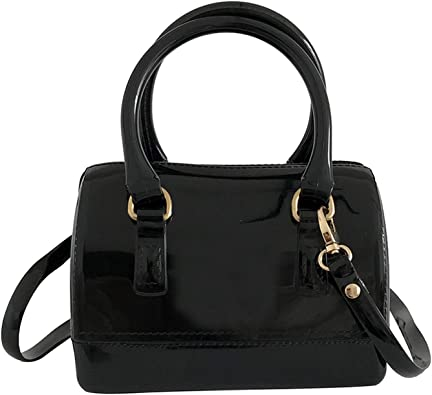 Remeehi Women Charming Jelly Pillow-shaped Shoulder Bag Top Handle Bag Tote